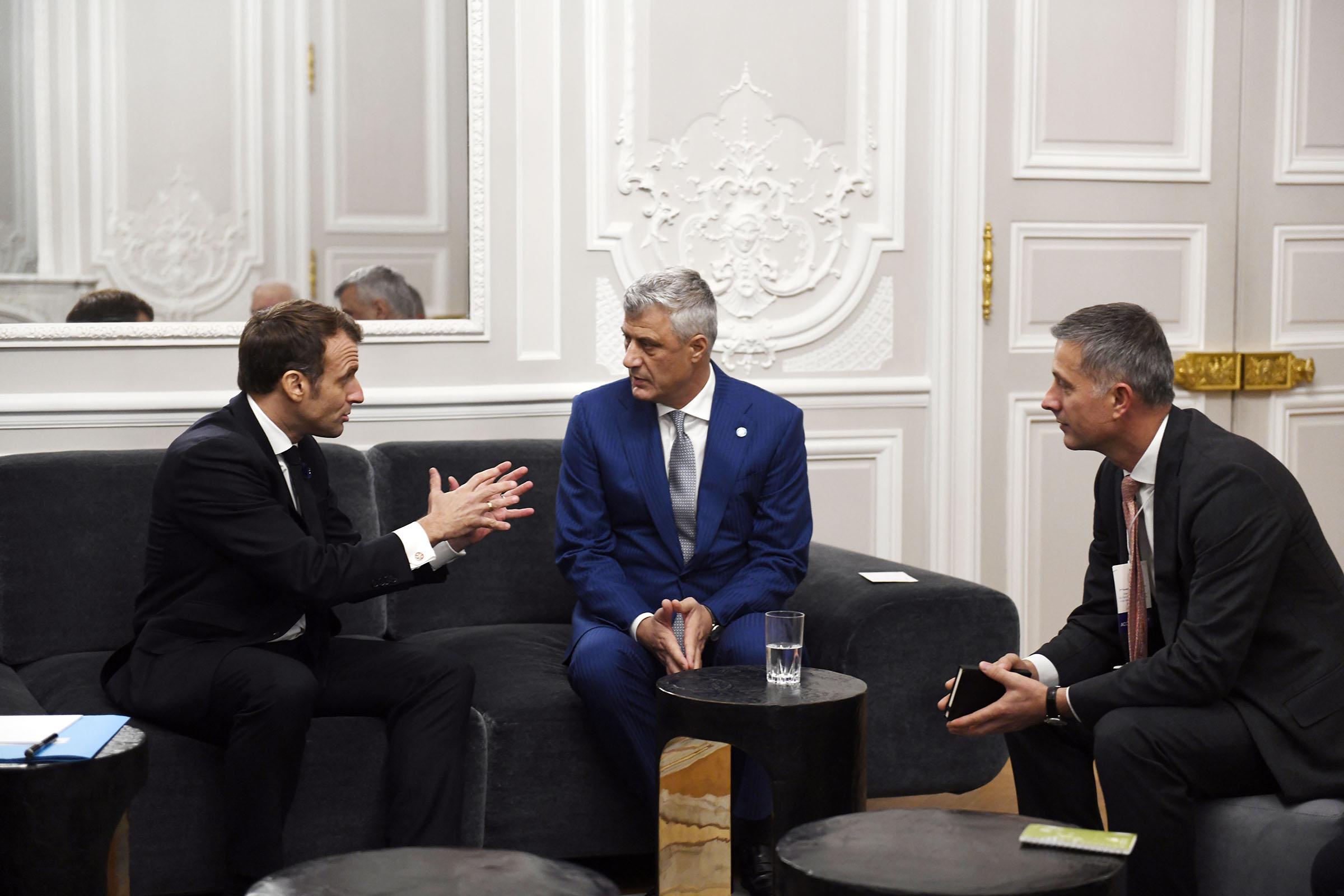 Thaçi në Zyrën e Macronit  Jemi të gatshëm për marrëveshje me Serbinë