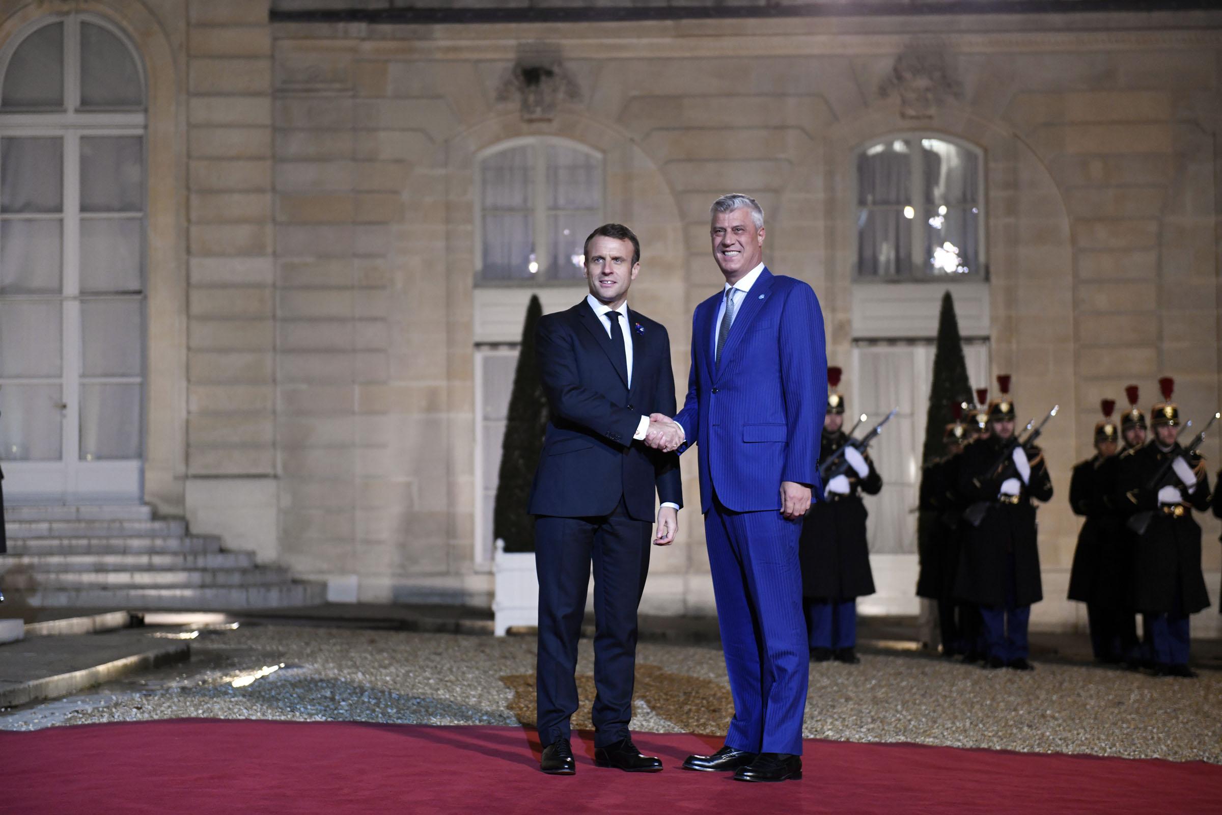 Thaçi pritet nga Macron  Kosova e gatshme për Marrëveshje të Paqes me Serbinë